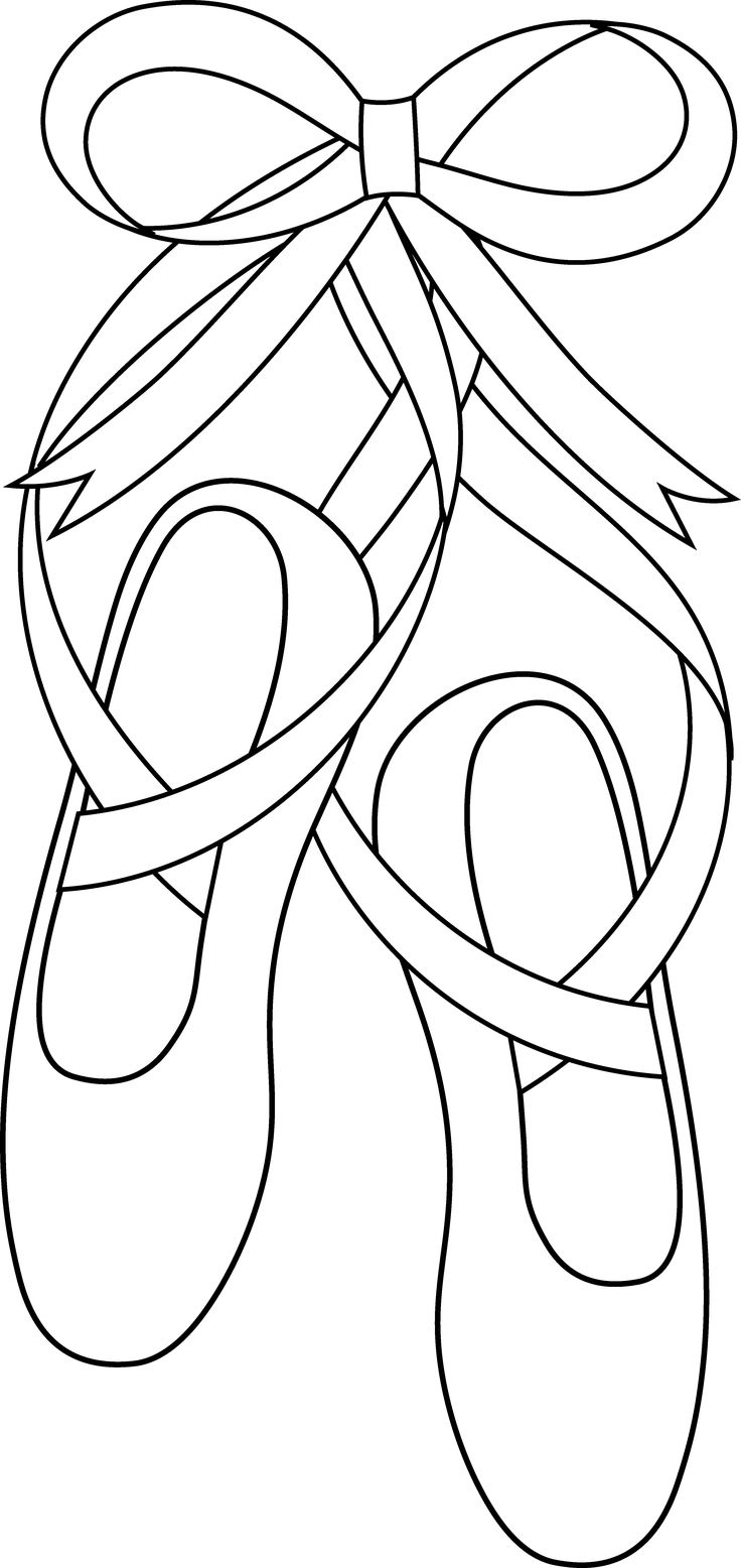 Ballerina Shoes Coloring Pages