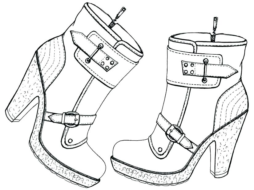 825x619 Coloring Pages Of Shoes Shoe Coloring Pages Coloring Pages Shoes