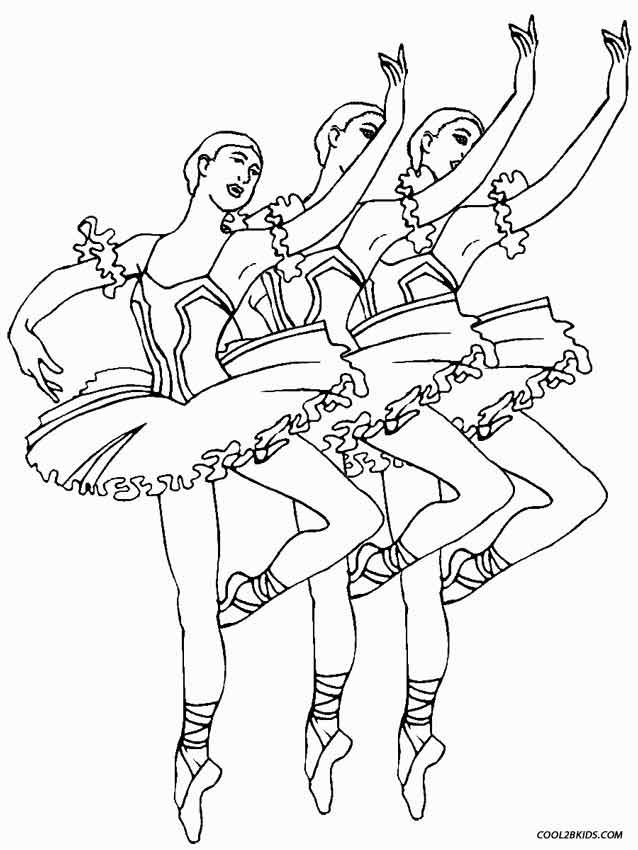 638x850 Printable Ballet Coloring Pages For Kids