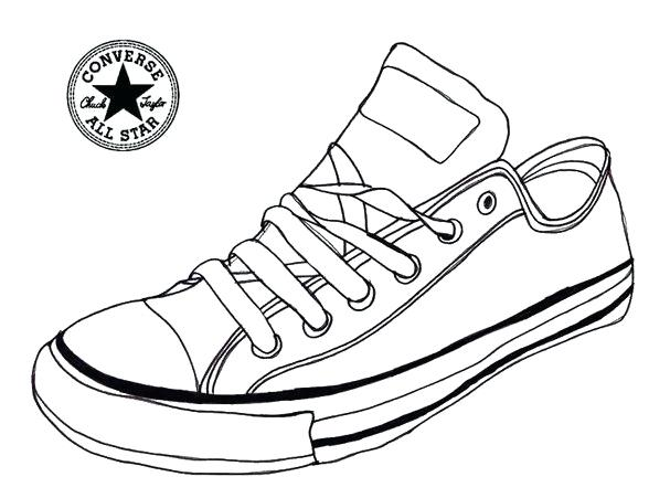 607x451 Coloring Pages Of Shoes