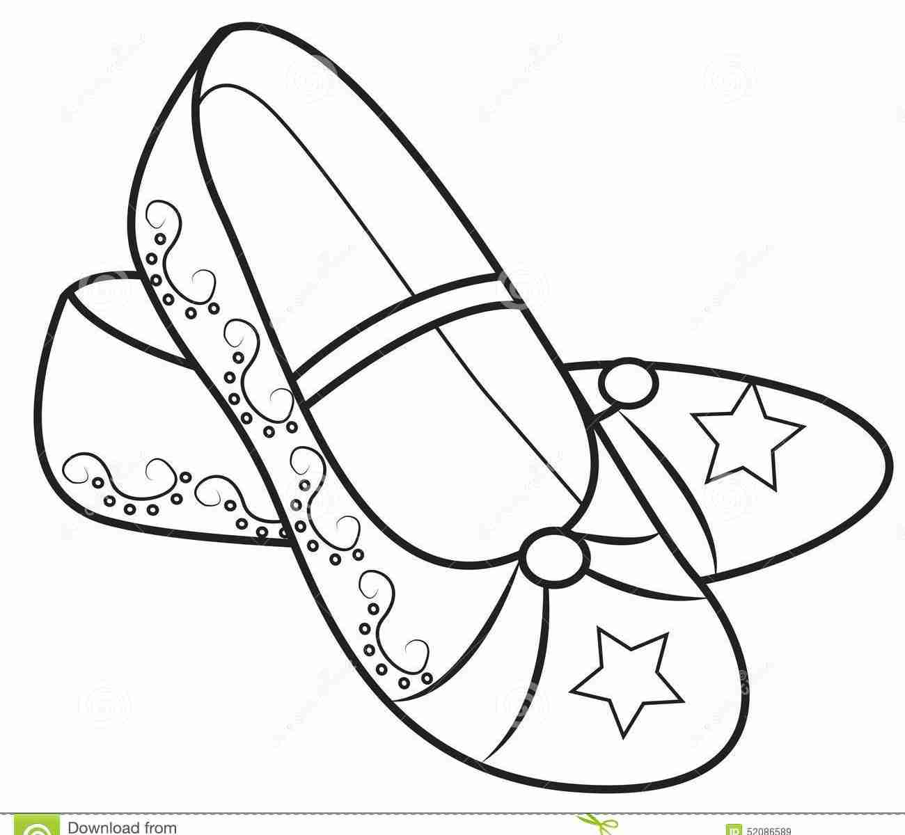 1300x1200 Shoes Coloring Pages Free Printable Kids Ballerina Jordans Stock