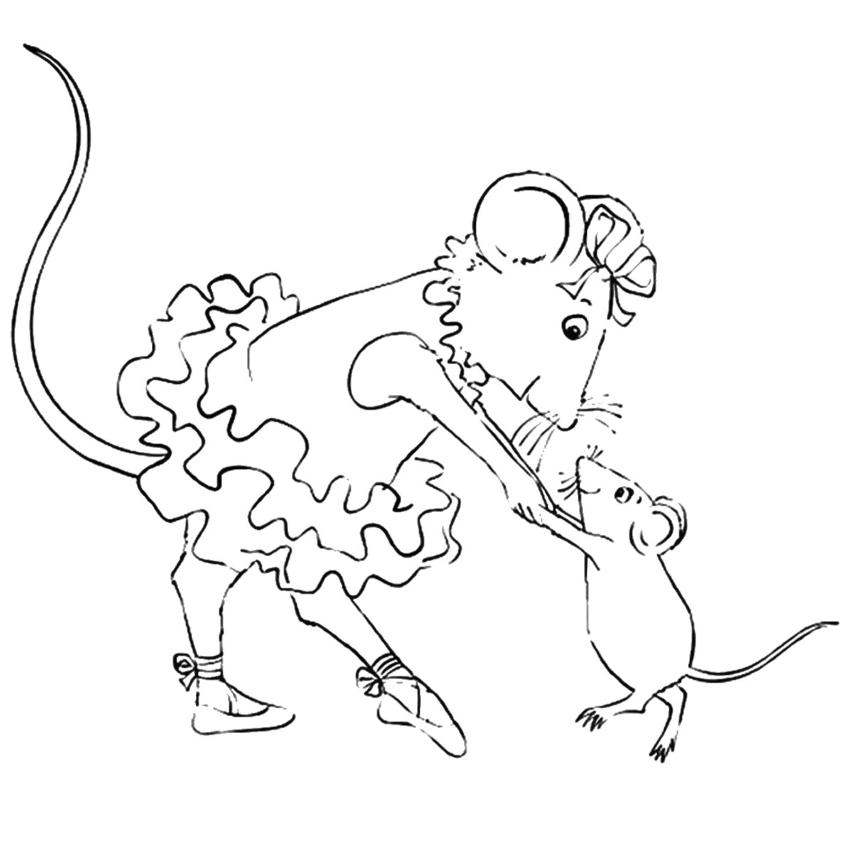 1200x1200 Angelina Ballerina Coloring Pages