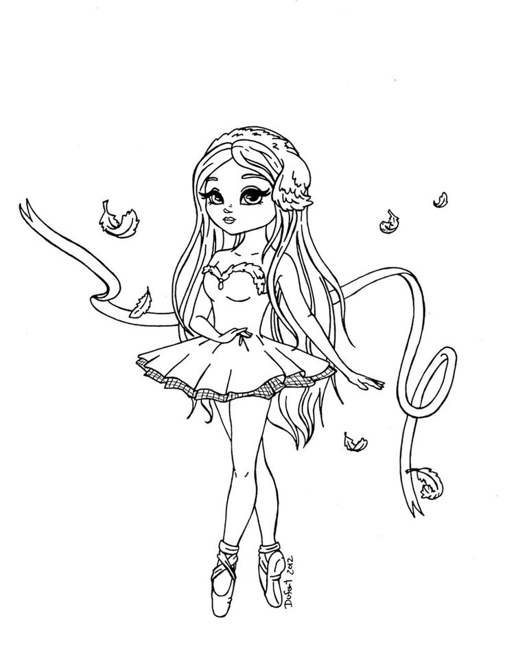 736x970 Ballet Dancer Coloring Pages Free