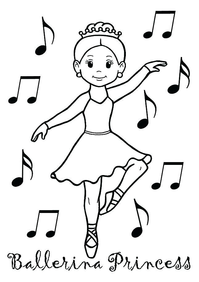 645x915 Dancer Coloring Pages Little Ballet Dancer Smiling Coloring Page