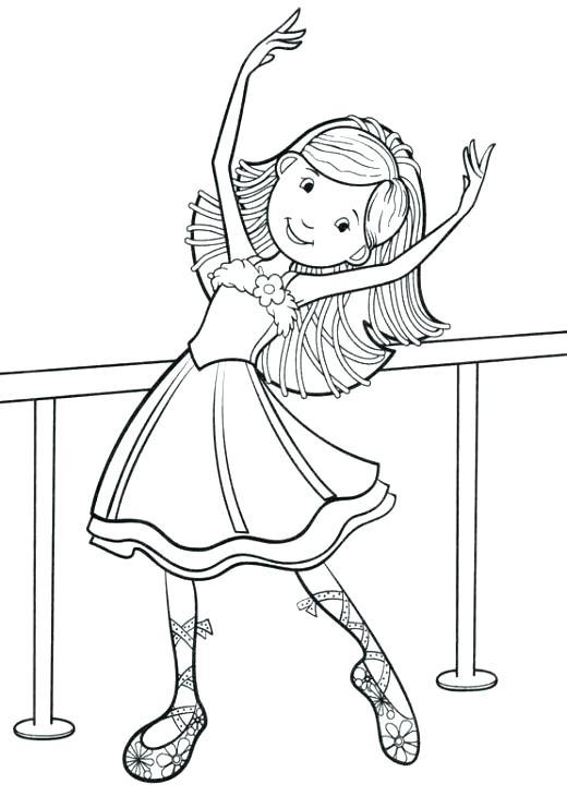 520x730 Dibujo Para Colorear Angelina Ballerina Para Little Ballet Dancer