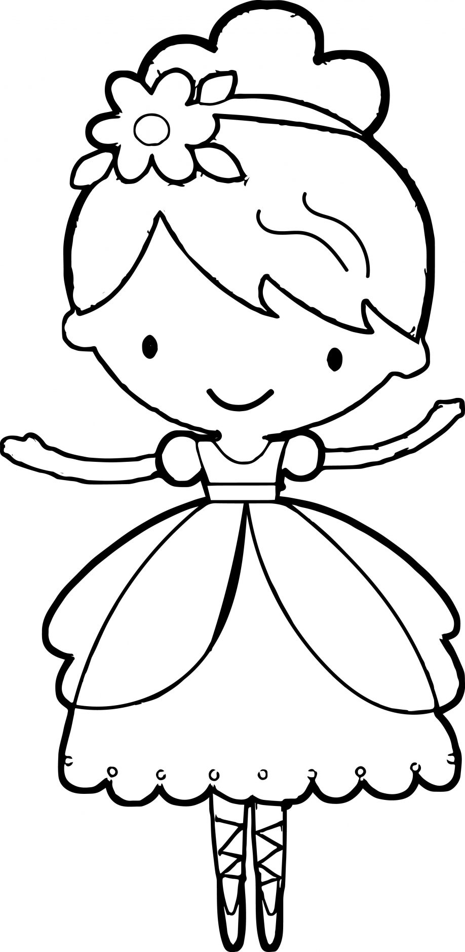 918x1878 Ballerina Coloring Page