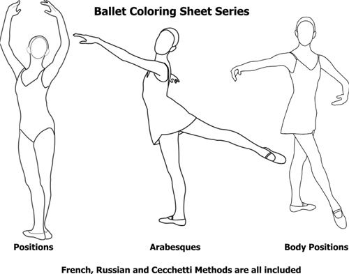 500x393 Ballet Body Position Coloring Pages Words Ballet