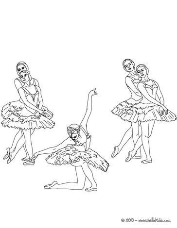 364x470 Ballet Dancers Final Position Coloring Pages
