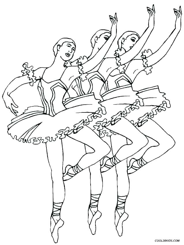 638x850 Good Ballerina Coloring Page Fee Ballet Dancer Pages Swan Lake