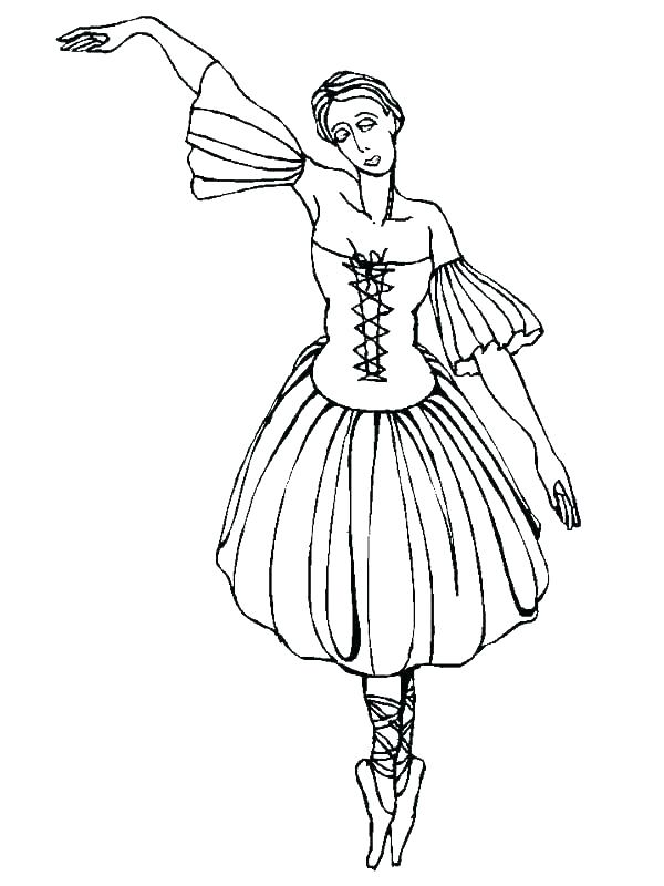 600x800 Ballet Positions Coloring Sheets