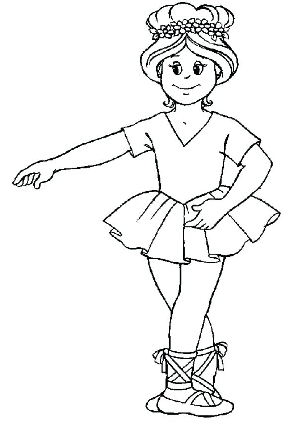 600x851 Ballet Positions Coloring Pages Ballerina Basic Position Coloring