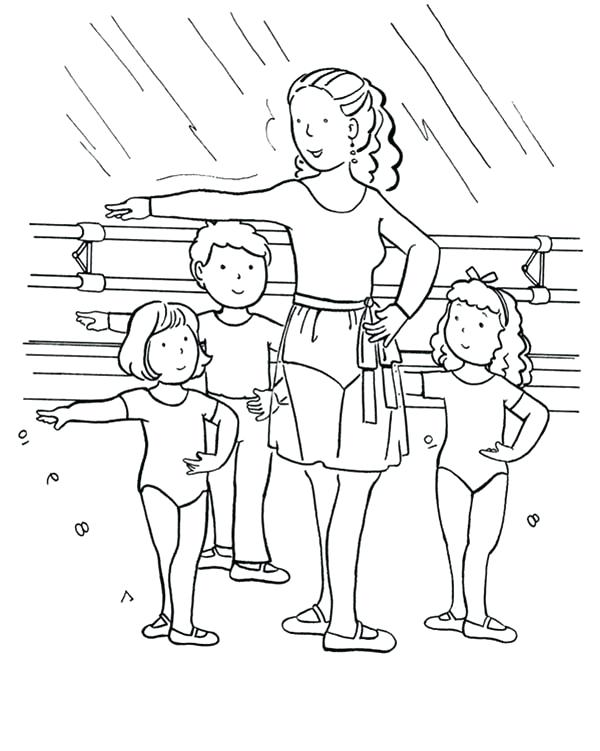 600x751 Ballet Positions Coloring Pages Ballet Class For Kids Coloring
