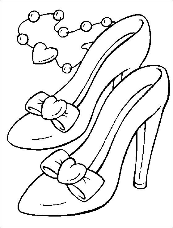 560x736 Princess Shoes Coloring Pages
