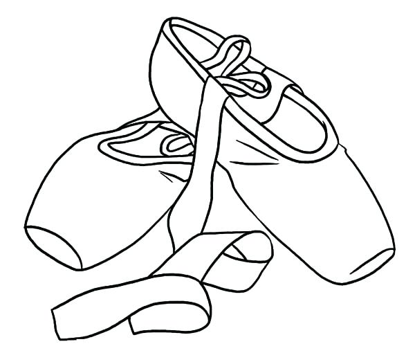 600x523 Shoe Color Page Princess Ballerina Shoes Coloring Pages Jordan