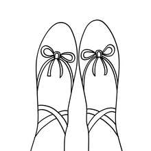 220x220 Toe Ballet Shoe Coloring Pages