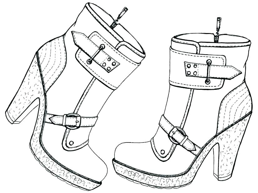 825x619 Shoes Coloring Pages
