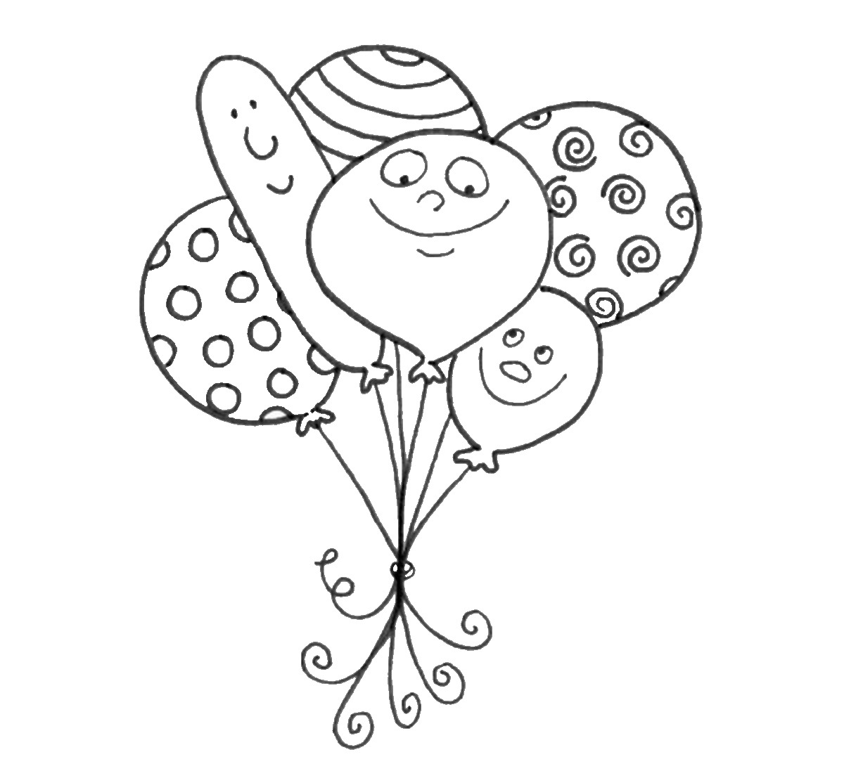 1200x1097 Balloons Coloring Pages