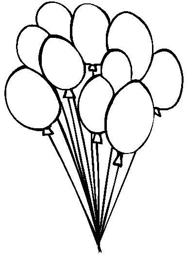 383x525 Birthday Balloon Coloring Pages