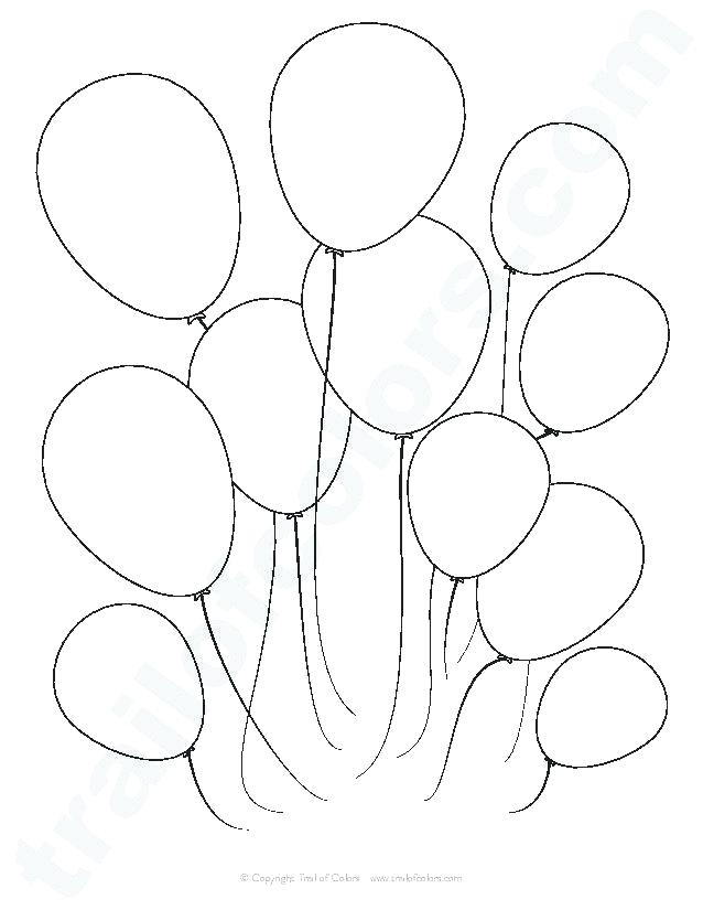 638x825 Coloring Pages Of Balloons A Bunch Of Balloons Coloring Page