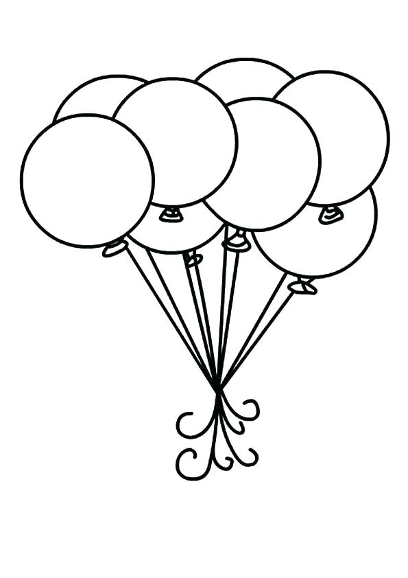 595x842 Balloon Coloring Pages Printable