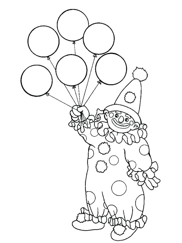 600x800 Balloon Coloring Pages The Clown Has Six Balloon Coloring Page Hot