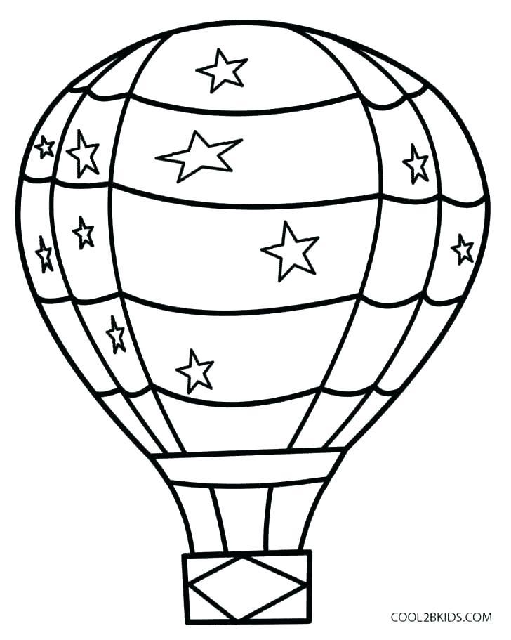 728x911 Balloon Coloring Pages Balloon Coloring Pages Printable Large Size