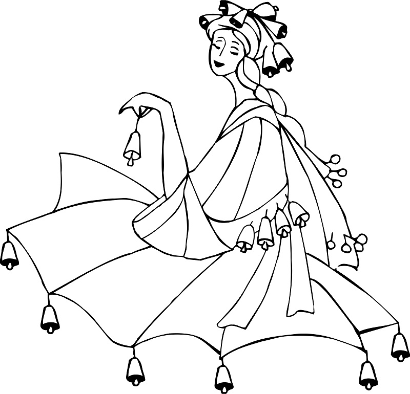 800x770 Dance Coloring Pages