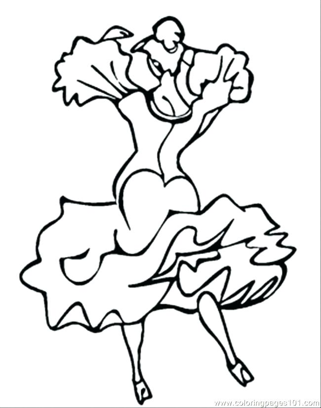 650x827 Dancing Coloring Pages Ballerina With Ponytail Coloring Page