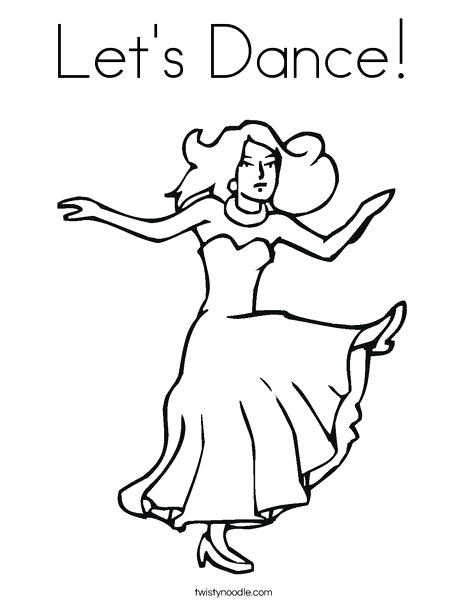 468x605 Dancing Coloring Pages Dancer With Long Dress Coloring Page