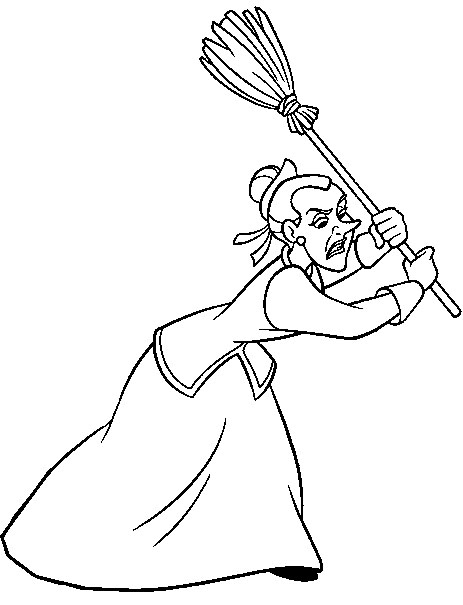463x605 Disney Cinderella Step Sister Coloring Pages
