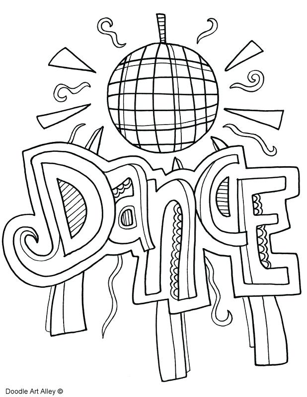 618x800 Dancing Coloring Pages