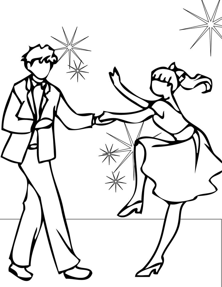 Ballroom Dancing Coloring Pages