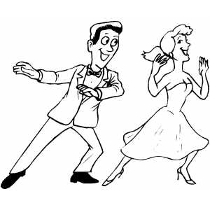 300x300 Dance Coloring Pages