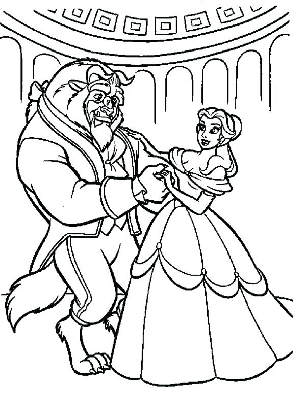 600x798 Dancing Coloring Pages Beauty And The Beast Belle Teach The Beast