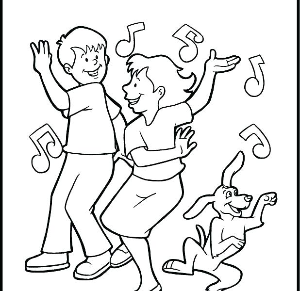 Dance Coloring Pages