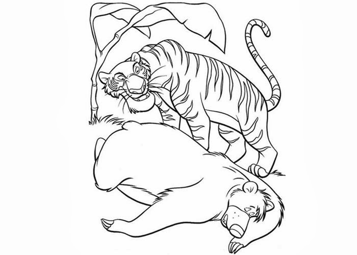 700x500 Baloo Shere Khan Coloring Pages Free Coloring Pages