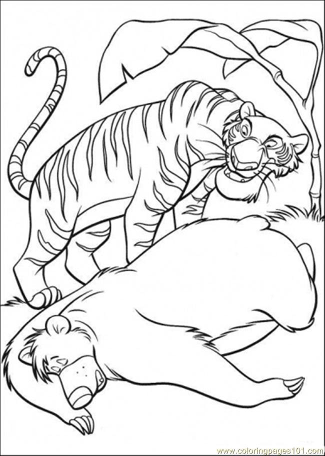 650x912 Baloo And Shere Khan Coloring Page