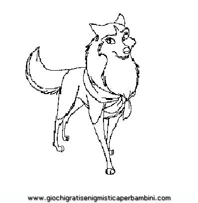 Balto And Jenna Coloring Pages
