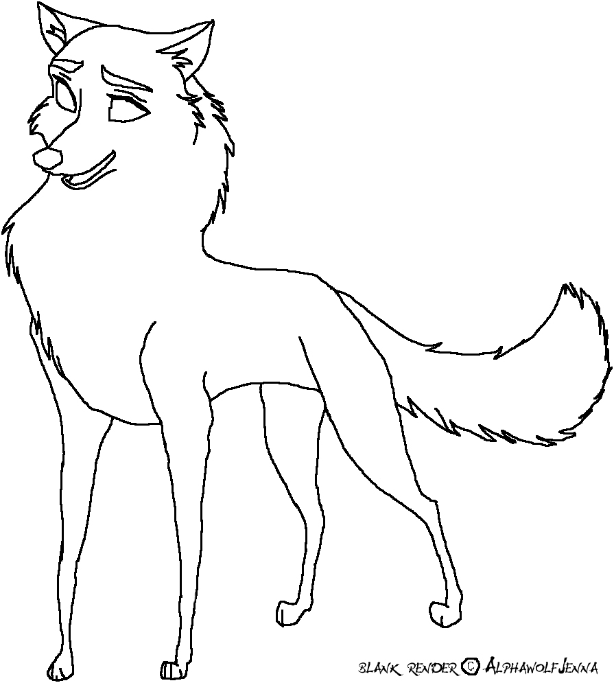 friendly wolf coloring pages - photo#10