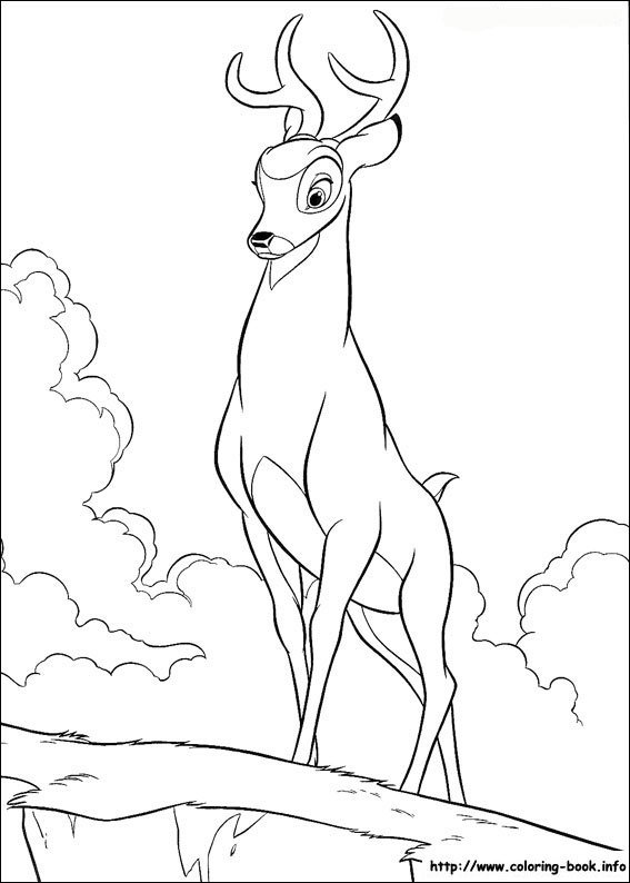 Bambi Coloring Pages At Getdrawings Free Download