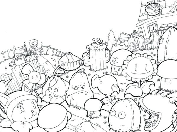 600x449 Coloring Pages Plants Plants Vs Zombies Coloring Pages