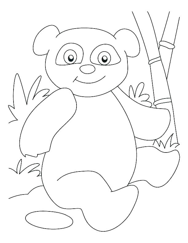 612x792 Cute Panda Coloring Pages Bamboo Panda Coloring Pages Stock Photo