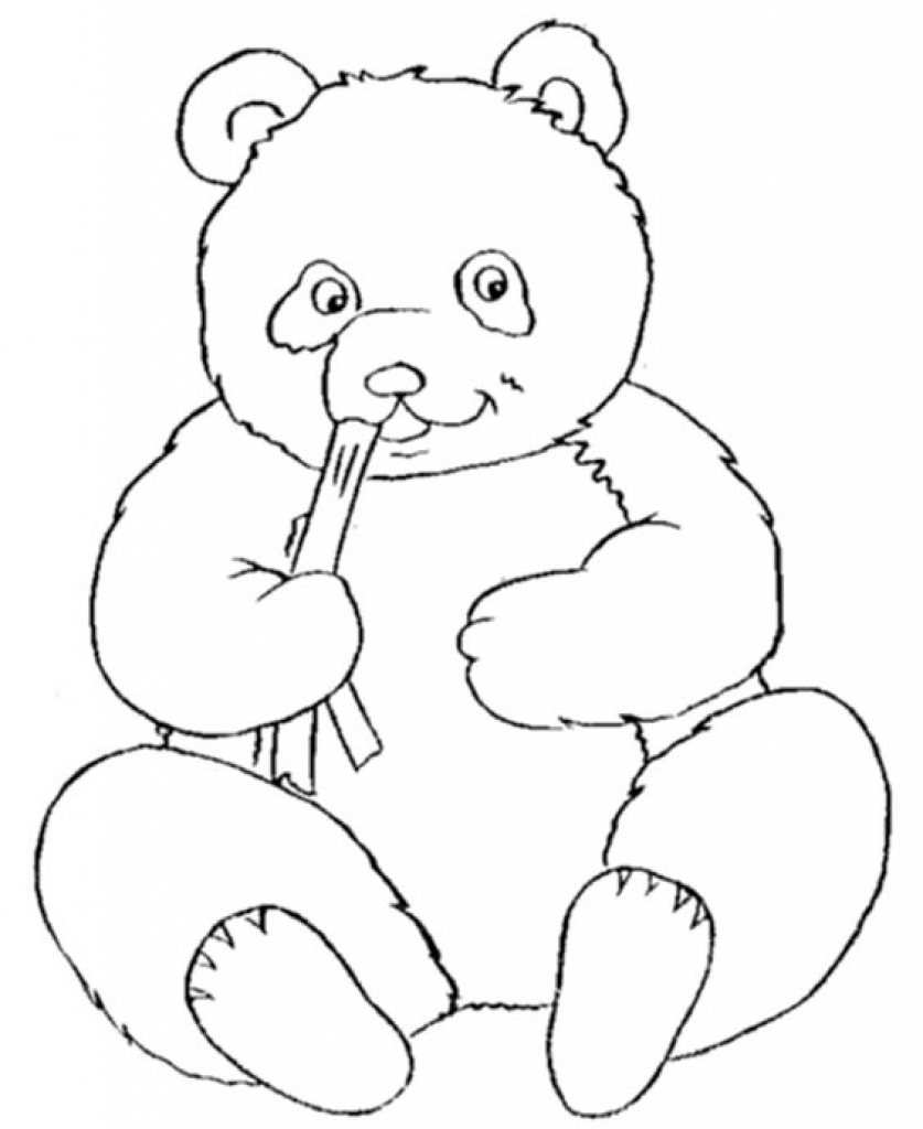 837x1024 Panda Coloring Pages