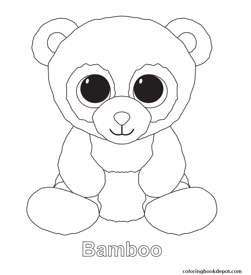 877x960 Bamboo Beanie Boo Coloring Pages