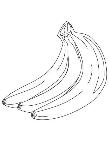 420x542 Banana Drawing For Kids Unique Three Banana Coloring Pages