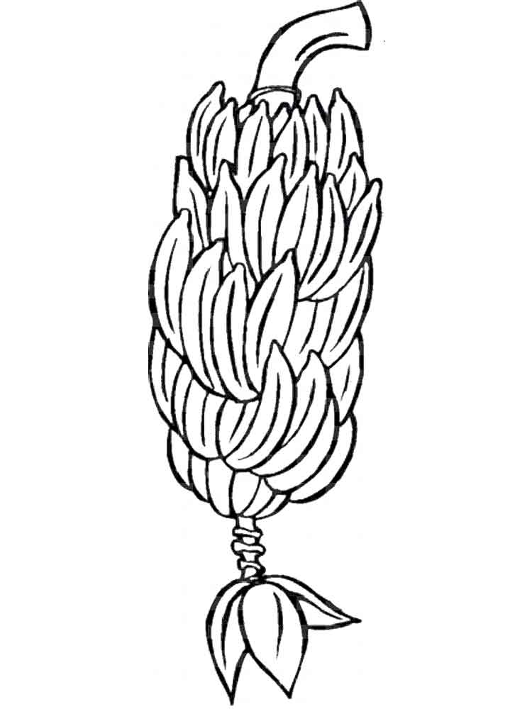 750x1000 Banana Coloring Pages Download And Print Banana Coloring Pages