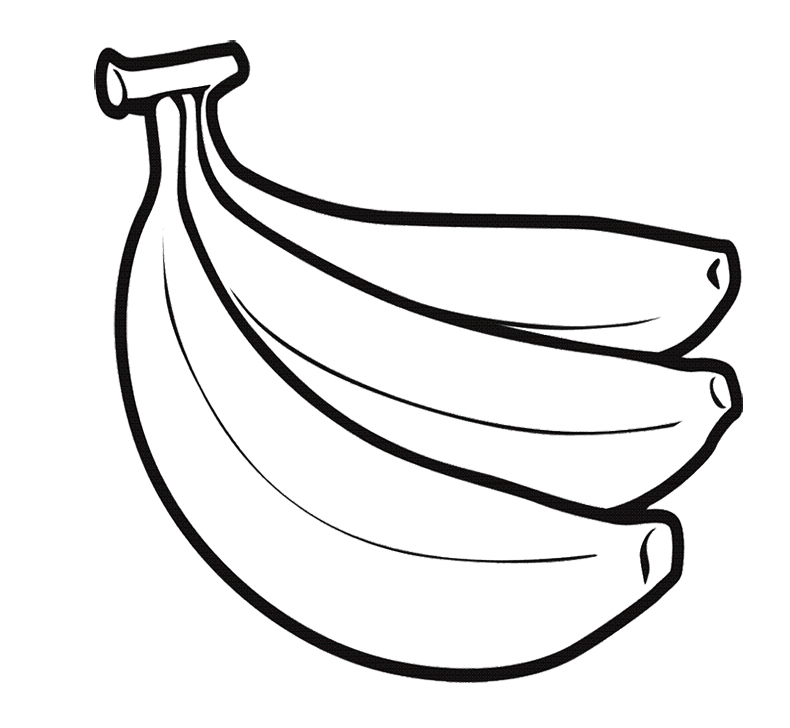 790x728 Banana Coloring Pictures Perfect Banana Coloring Page