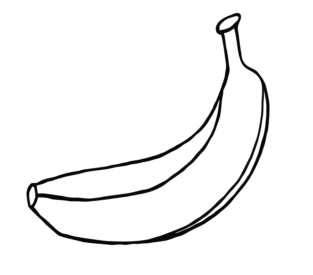 1024x902 Banana Coloring Page One Large For Kids Chellye Banana