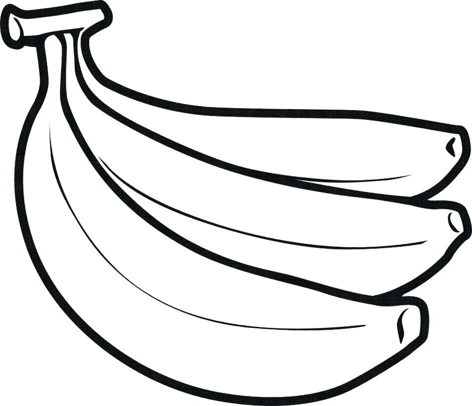 942x811 Banana Coloring Pages