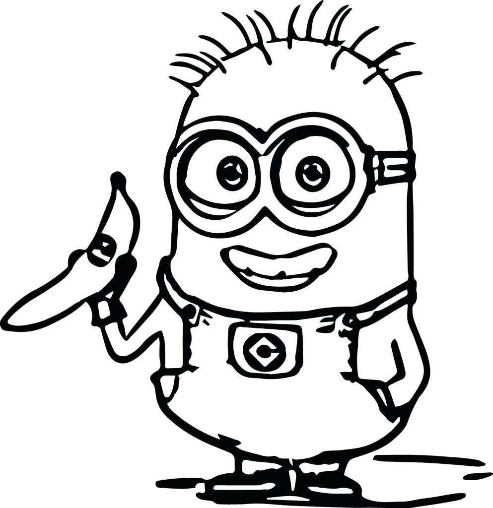 993x1024 Coloring Pages Banana Coloring Page Minions Pages With A Free